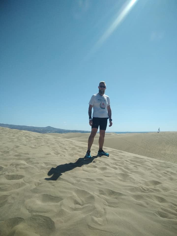 Dennis sulle Dune di Maspalomas a Gran Canaria