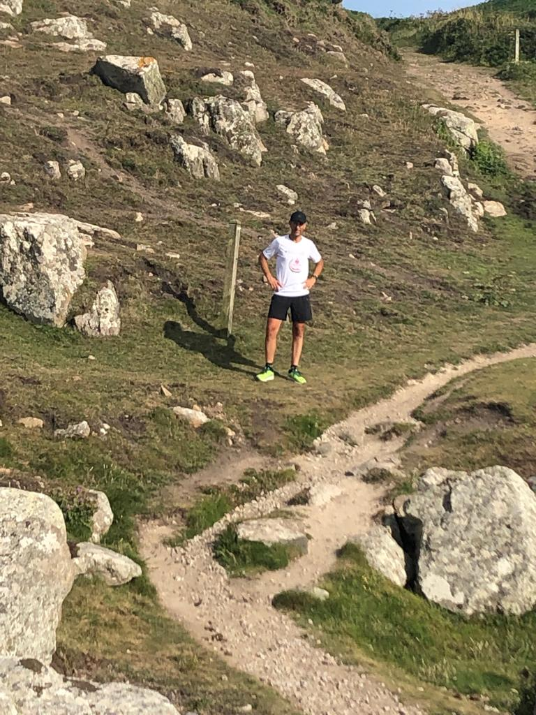 Cristiano in Cornovaglia a Land's End